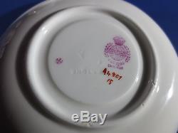 Vintage Minton Rose A4807 Bone China Demitasse Cups & Saucers (Set of 8), 1920s