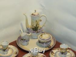 Vintage Russian Porcelain Demitasse Cup and Saucer Set