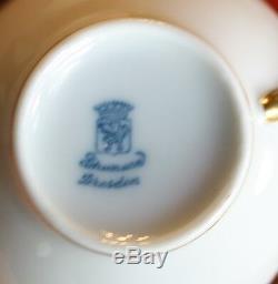 Vintage Schumann Bavaria Dresden Demitasse Espresso Cups Saucers Roses Pink