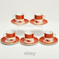 Vintage Set Of 5 Spode Copeland Demitasse Cups & Saucers For Tiffany & Co