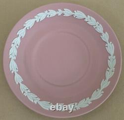 Wedgewood Pink Jasperware Demitasse Coffee Cup And Saucer
