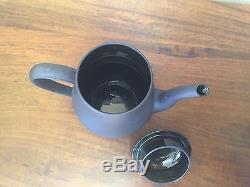 Wedgwood BASALT BLACK Demitasse Coffee Tea Set