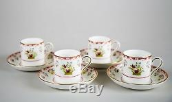 Wedgwood Bianca Williamsburg Demitasse Cups & Saucers, Set of (4)
