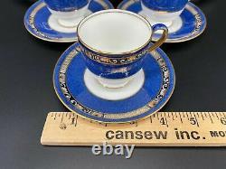 Wedgwood X9933 Art Nouveau Demitasse Cup Saucer Set x 6 Very Rare Bone China