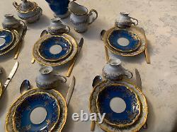 Weimar Katharina Porcelain Blue/ White Demitasse Set. Really Pretty