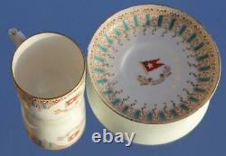 White Star Line Rms Olympic Titanic Era 1st CL Demitasse Cup & Saucer 1906/9 A/f