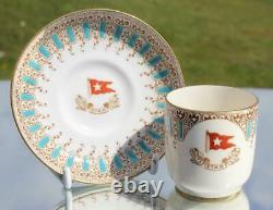 White Star Line Rms Olympic Titanic Era 1st CL Demitasse Cup & Saucer 1906 A/f