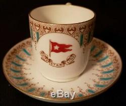 White Star Line Wisteria Brownfield Demitasse Cup Saucer Titanic Era Ocean Liner