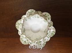 Wileman & Co Shelley GREEN IVY Demitasse Cup & Saucer c. 1889 Set of 6